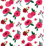 Vector roses bouquete seamless pattern background. vector illustration