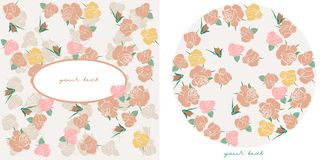 vector Roses cards Royalty Free Stock Image