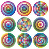Vector rosettes. Artistic designed set of vector rosette as symbol for innovation, harmony and creative mind Stock Photography