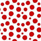 Vector rote Tintenflecke und -drucke des nahtlosen Musters Lizenzfreie Stockfotos