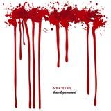 Vector roten Tintenfleck, befleckt und spritzt Lokalisierte Farbentropfen, Gestaltungselemente Stockfotos