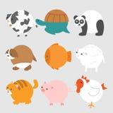 Vector Round Animals Illustration Stock Photos
