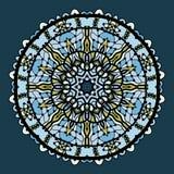 Vector round arabesque mandala background in Stock Image