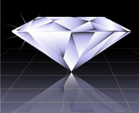 Vector round brilliant cut diamond Stock Image