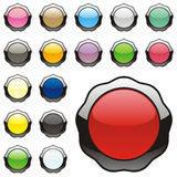Vector round buttons Royalty Free Stock Photo