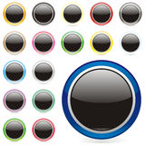 Vector round buttons Royalty Free Stock Images