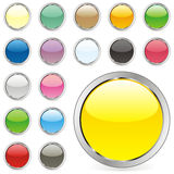 Vector round buttons Stock Photo