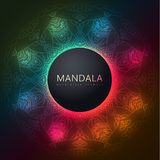 Round decorative element with vivid colors. Vector round circle. Mandala style. Decorative element with vivid colors and transparency Stock Photos
