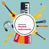 Vector Round Concept Musical Instruments Stock Image