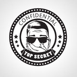Vector round Confidential top secret stamp or sticker Royalty Free Stock Photo