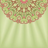 Vector round decorative design element Royalty Free Stock Images