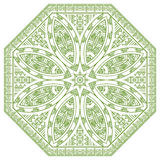Vector Round Decorative Design Element Stock Image