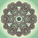 Vector Round Decorative Design Element Stock Images