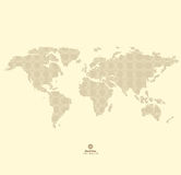 Vector Round Dotted World Map Royalty Free Stock Photo