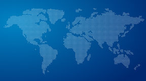 Vector Round Dotted World Map Stock Images