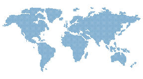 Vector Round Dotted World Map Royalty Free Stock Image
