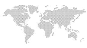 Vector Round Dotted World Map Royalty Free Stock Photography