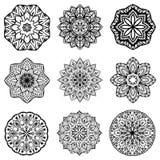 Vector round ethnic ornaments. Stock Image