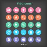 Vector Round Flat Icon Set №2 Stock Image