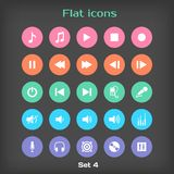 Vector Round Flat Icon Set �4 Royalty Free Stock Images