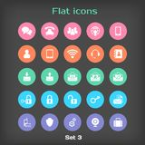 Vector Round Flat Icon Set №3 Stock Image