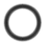 Vector round frame. Abstract graphic element background. On white Royalty Free Stock Image