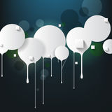 Vector round frame dripping paint concept background Stock Photography