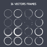 16 vector round frame. Vector. eps10 Stock Images