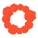 Vector Round Frame of Orange Roses royalty free illustration