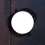 Vector round frame silhouette foliage on wood background Stock Photo