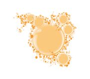Vector round frame for text orange bubbles Stock Images