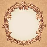 Vector round frame in vintage style Royalty Free Stock Image