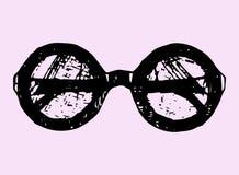 Vector round glasses Stock Image
