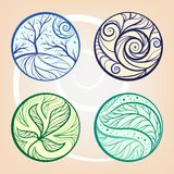Vector round graphic elements set Royalty Free Stock Image