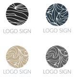 Vector round mosaic logo signs vector illustration