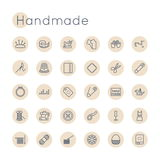 Vector Round Handmade Icons Royalty Free Stock Photos