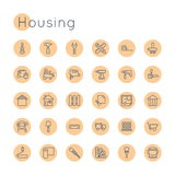Vector Round Housing Icons Stock Images