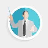 Vector round icon silhouette successful man Stock Photo