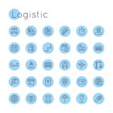 Vector Round Logistic Icons Stock Image