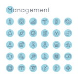 Vector Round Management Icons Royalty Free Stock Image