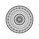 Vector round mandala. Ethnic decorative ornament. Coloring page Stock Images