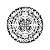 Vector round mandala. Ethnic decorative ornament. Coloring page Stock Photos