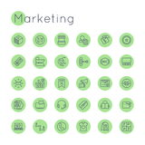 Vector Round Marketing Icons Royalty Free Stock Photo