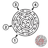 Vector Round Maze / Labyrinth. Isolated