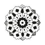 Vector round oriental flower vintage Stock Images