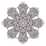Vector round ornament. Vector illustration with vintage pattern for print, embroidery Stock Photography