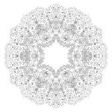 Vector round ornament. Vector illustration with floral pattern for print, embroidery Stock Photos