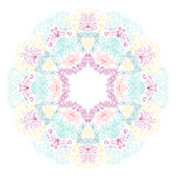 Vector round ornament. Vector illustration with floral pattern for print, embroidery Royalty Free Stock Photo
