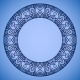 Vector round ornament. Royalty Free Stock Photos