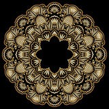 Vector round ornament. Vector illustration with vintage gold floral ornament Royalty Free Stock Image